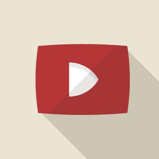 YouTubeのロゴをイメージしたイラスト